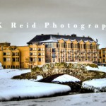 The Old Course Hotel in the snow