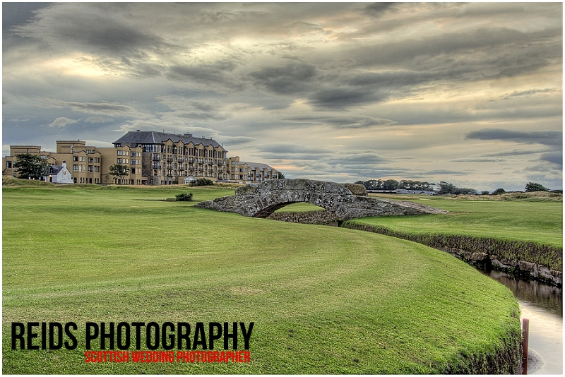 Swilcan Bridge and Old Course Hotel